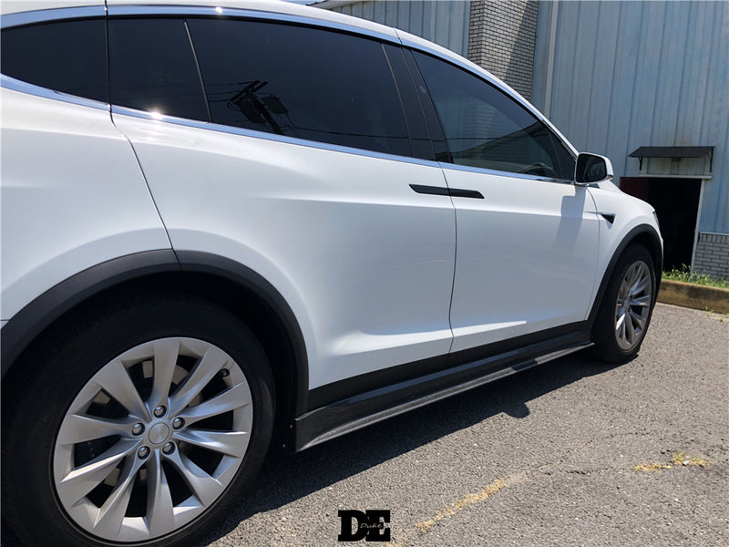 DE Style Carbon Fiber Side Skirts For Tesla Model X