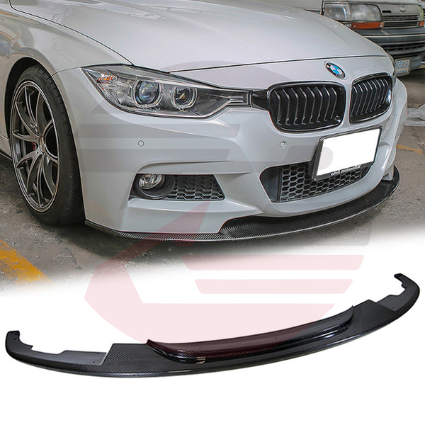 Hard Park Pro - 2012-2016 BMW 3-Series F30/F31 Carbon Fiber Type-DP front lip M-sport package bumper only