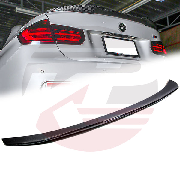 Hard Park Pro - 2012-2018 BMW 3-Series F30/F80 M3 Sedan Carbon Fiber PSM trunk spoiler Sedan only