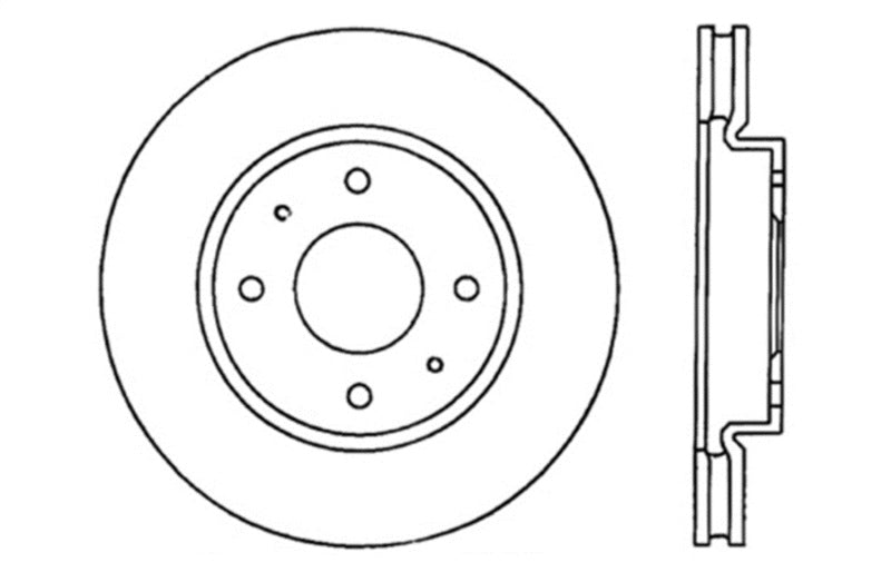 StopTech Slotted & Drilled Sport Brake Rotor (127.46070L)