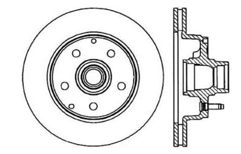 StopTech Drilled Sport Brake Rotor (128.66016L)