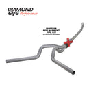 Diamond Eye KIT 4in TB MFLR RPLCMENT PIPE OFF-RD DUAL AL: 2004.5-2007.5 DODGE NFS W/ CARB EQUIV STDS (K4237A-RP)