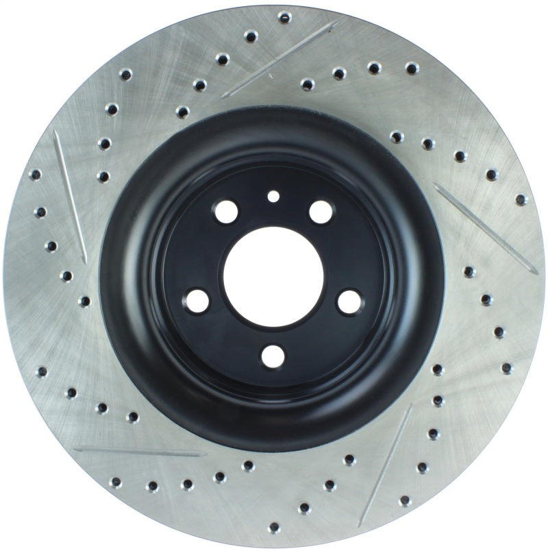 StopTech Slotted & Drilled Sport Brake Rotor - 2015 Ford Mustang Non-Brembo - Front Left (127.61114L)