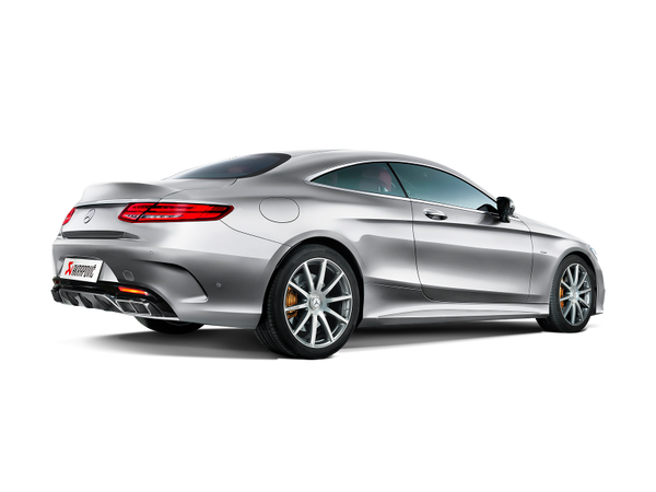 Akrapovic 15-17 AMG S63 Coupe (C127) Evolution Line Titanium Cat Back w/ Carbon Tips (Req Link Pipe) (MTP-ME/T/1H)