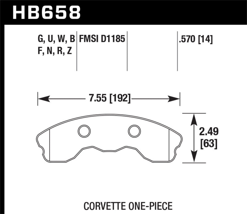 Hawk Performance K DTC-80 Brake Pad Sets (hawkHB658Q.570)