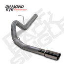 Diamond Eye KIT 4in DPF-BACK SGL SS: 11-12 CHEVY 6.6L 2500/350 (K4156S)