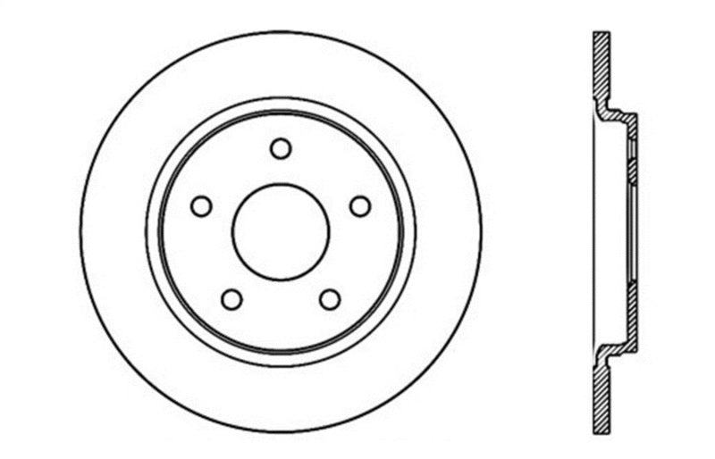 StopTech Drilled Sport Brake Rotor (128.67071L)