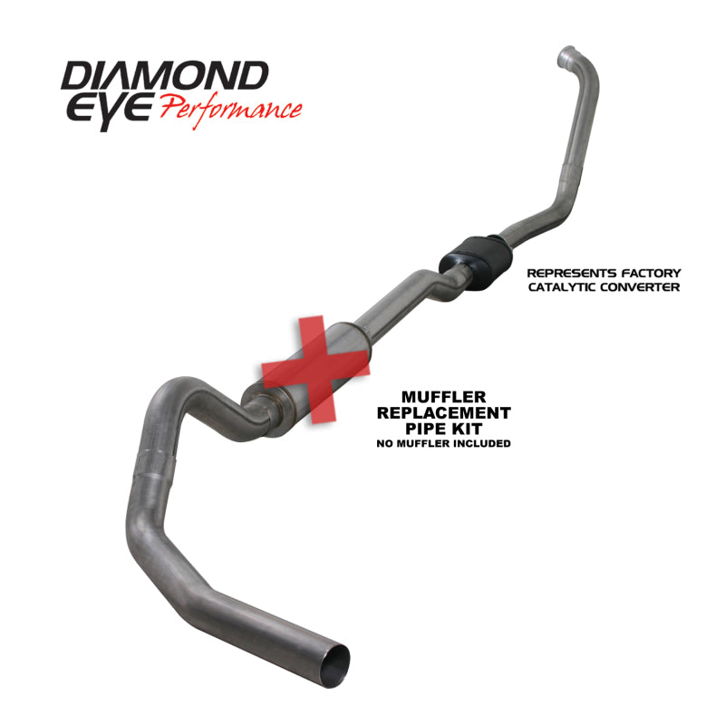Diamond Eye KIT 4in TB SGL SS: 03-07 FORD 6.0L F250/F350 NFS W/ CARB EQUIV STDS (K4334S-RP)