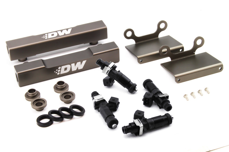 DeatschWerks 04-06 Subaru STI/LGT Side Feed to Top Feed Fuel Rail Conv Kit w/ 1200cc Injectors (6-101-1200)