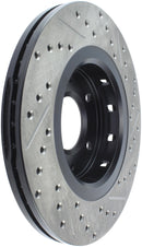 StopTech 09-15 Mitsubishi Lancer Ralliart Sport Stop Slotted & Drilled Front Right Rotor (127.46078R)