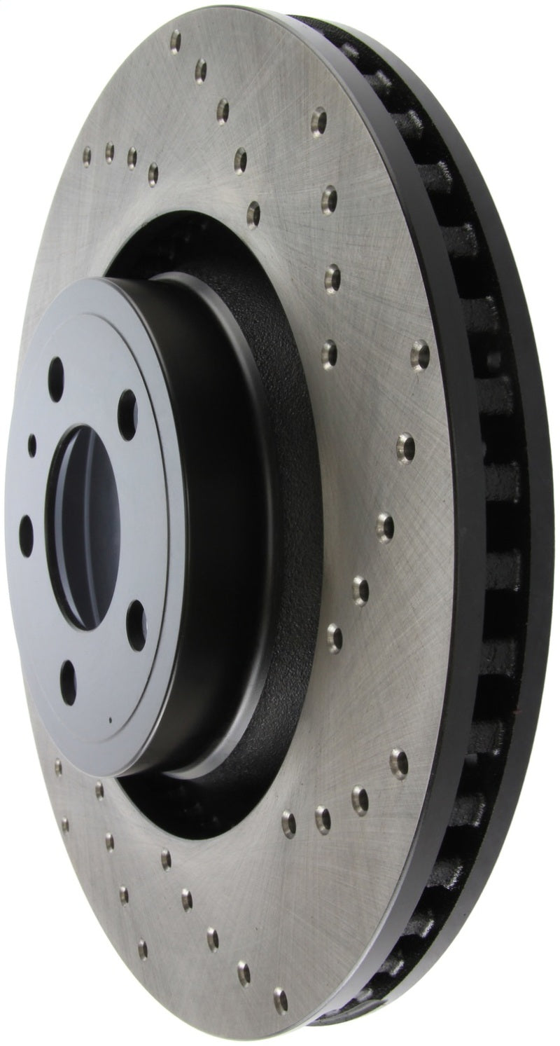 StopTech Cross Drilled Sport Brake Rotor - 2015 Ford Mustang Non-Brembo - Front Left (128.61114L)