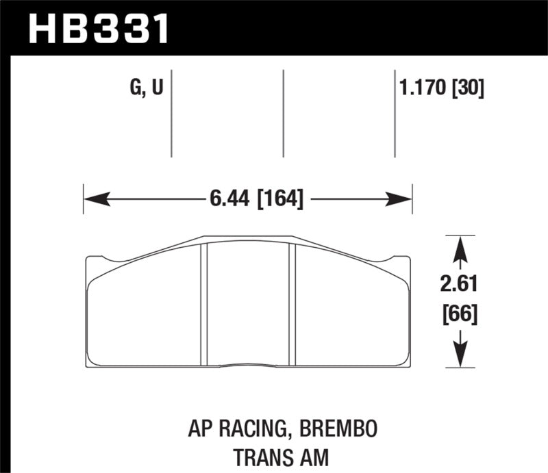 Hawk Performance K DTC-80 Brake Pad Sets (hawkHB331Q1.17)