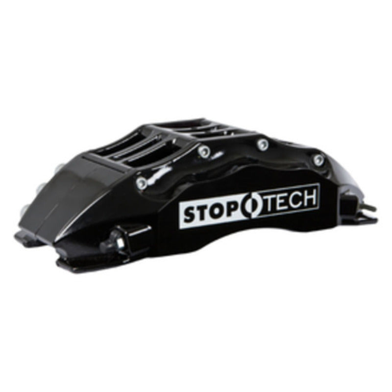 StopTech 03-06 Evo Front BBK w/ Black ST-60 Calipers Slotted Zinc 355x32mm Rotors Pads and SS Lin (83.622.6700.53)