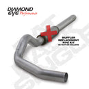 Diamond Eye KIT 5in CB MFLR RPLCMENT PIPE SGL AL: 2004.5-2007.5 DODGE CUMMINS 600 (K5244A-RP)