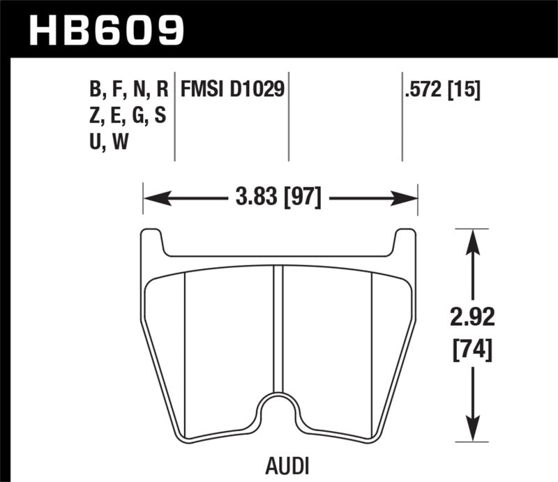 Hawk Performance K DTC-80 Brake Pad Sets (hawkHB609Q.572)