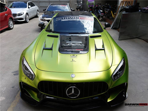 Mercedes Benz AMG GT GTS GTC GTR IMP Style Part Carbon Fiber Hood Bonnet W Glass