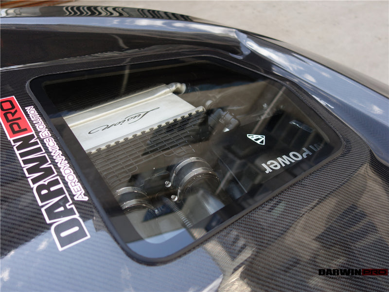 DarwinPRO BMW F80 M3 / F82 M4 IMP Style Carbon Fiber Hood Bonnet W/ Center Glass