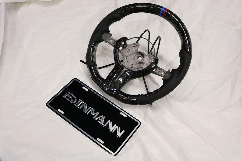 DINMANN CF – Forged Carbon Steering Wheel for F8X M3 M4 F87 M2 2, 3, 4 SERIES X5 X6