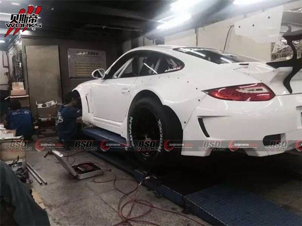 2009-2012 Carrera Turbo 911/997 DP Style Wide Body Kit W/ CF Spoiler Fit Porsche