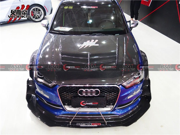 Darwin Pro - 2013-2016 Audi S3 DP Style Full Wide Body Kit W/ Carbon Fiber