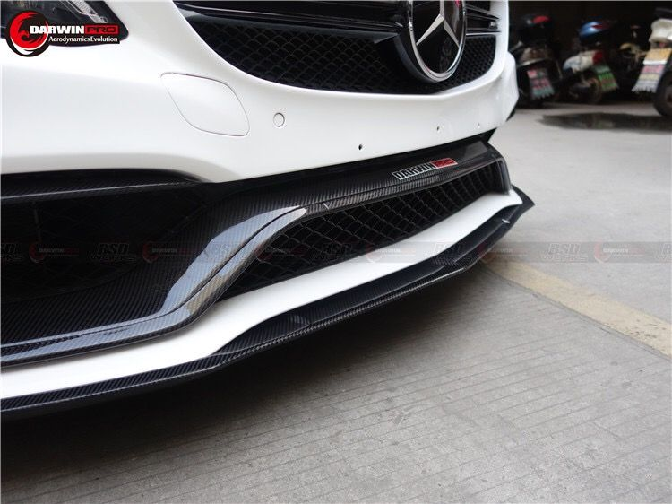 W205 Mercedes Benz C63 / C63s AMG Eu Style Carbon Fiber Front Trim Replacement