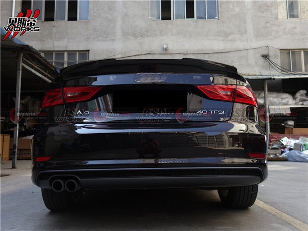 Darwin Pro - 2013-2016 Audi A3 S3 RW Style Carbon Fiber Rear Trunk Spoiler Wing Body Kit