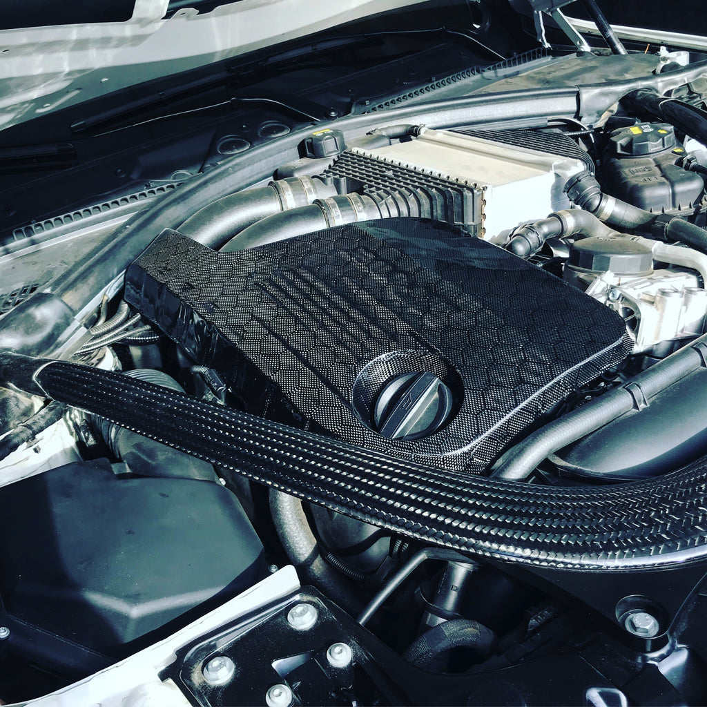 HARD PARK PRO CARBON - BMW F8X M3 M4 - Custom Weave Engine Covers
