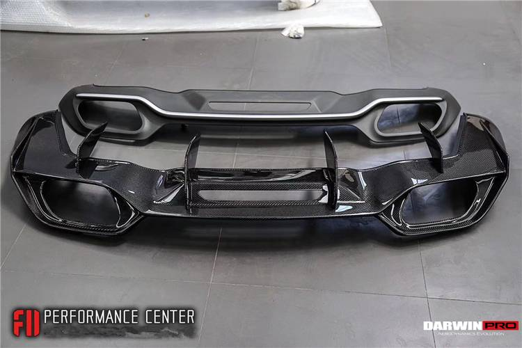 DarwinPRO Mercedes Benz GT GTS IMP Style Carbon Fiber Rear Diffuser Replacement