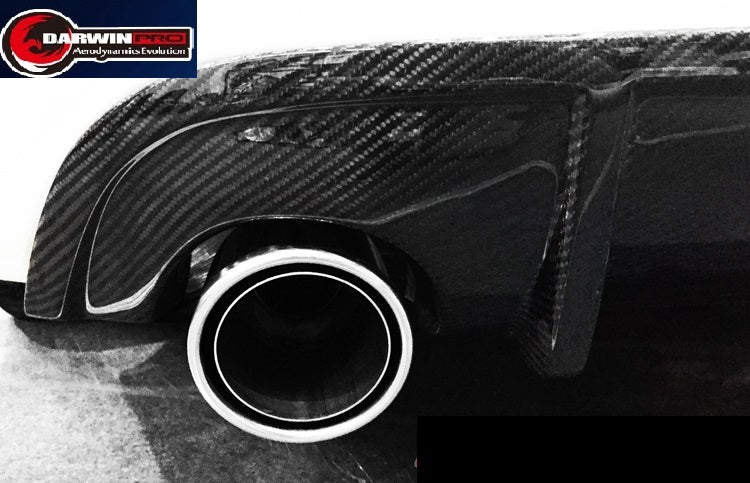2014-2016 Q50 Q50S Sedan 4DR ST Style Carbon Fiber Rear Diffuser LIP Body Kit