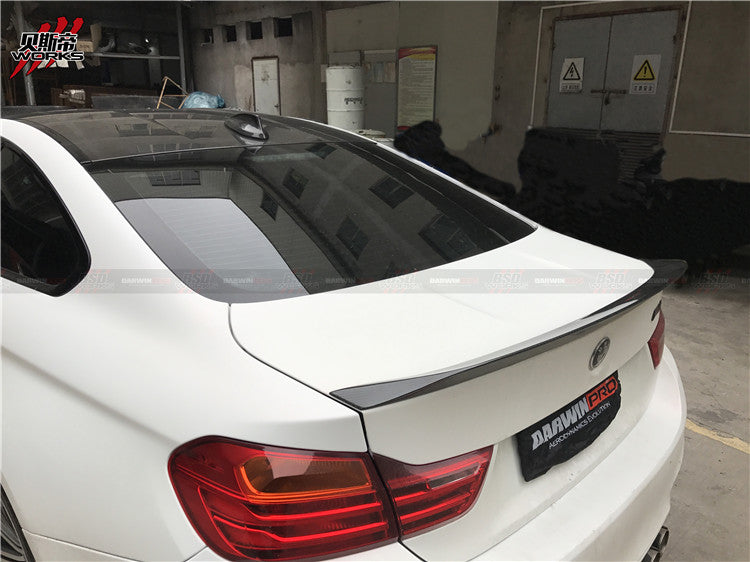Darwin Pro - 2014-2018 BMW F82 M4 D3 Style Carbon Fiber Rear Trunk Spoiler High Kick