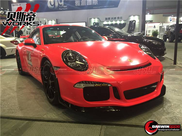 13-16 Carrera 991 GT3 Style Front Bumper Body Kit With Front Lip 911 Fit Porsche