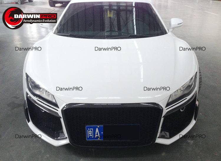 Darwin Pro - 2008-2015 Audi R8 RG Style Front Bumper Body Kit W/ Carbon Fiber Accents
