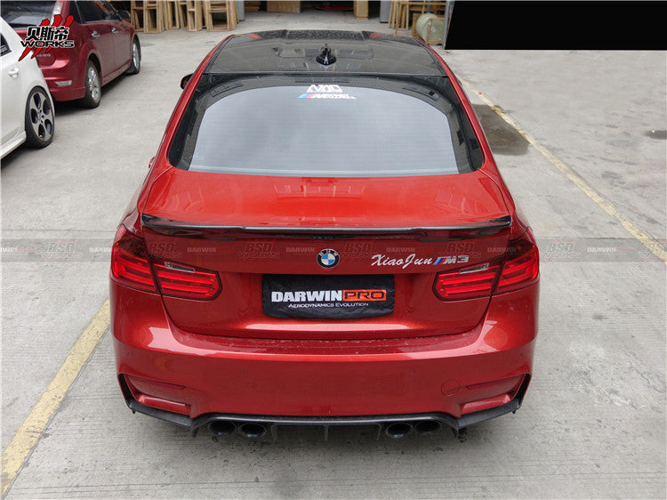 DarwinPRO BMW F80 M3 DP Style Carbon Fiber Rear High Kick Trunk Spoiler Body Kit