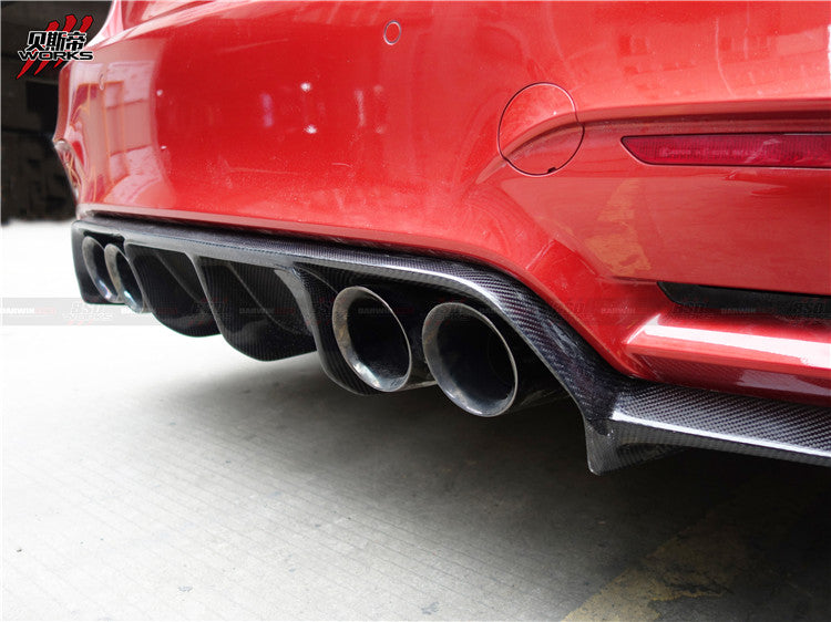 2014-2018 BMW F80 M3 / F82 F83 M4 VA Style Carbon Fiber Rear Diffuser Body Kit