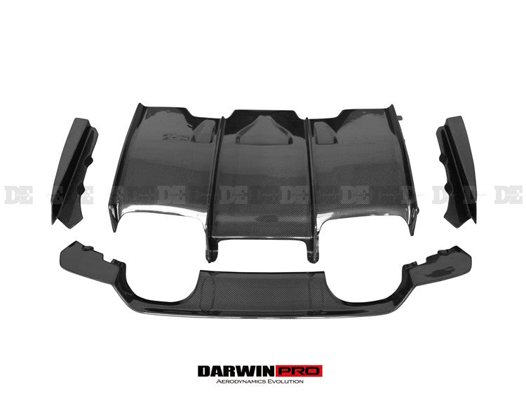 2014-2018 BMW F80 M3 / F82 F83 M4 DE Style Carbon Fiber Rear Diffuser Undertray