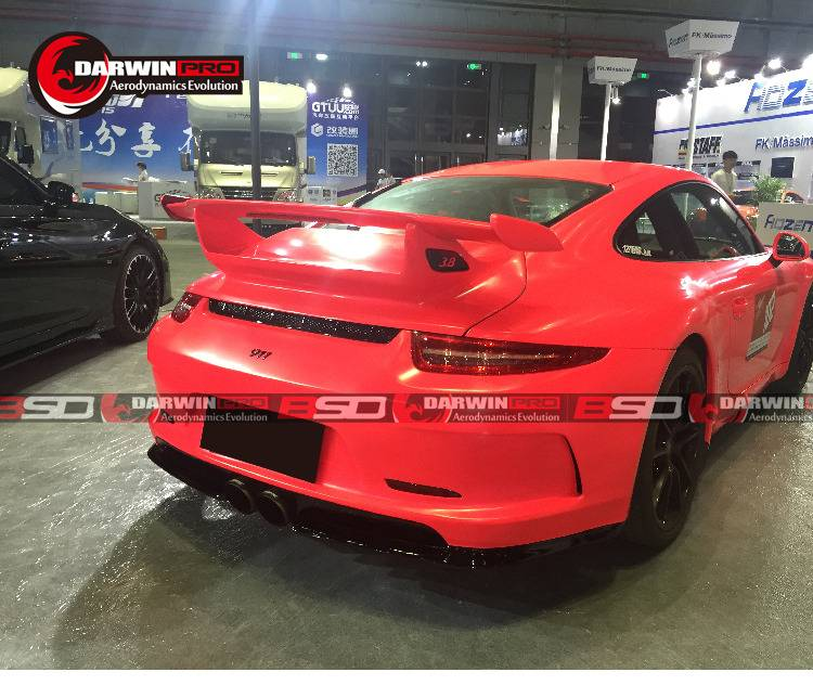 2013-2016 Carrera 991 911 GT3 Style Rear Bumper Body Mid EXT Kit For Porsche
