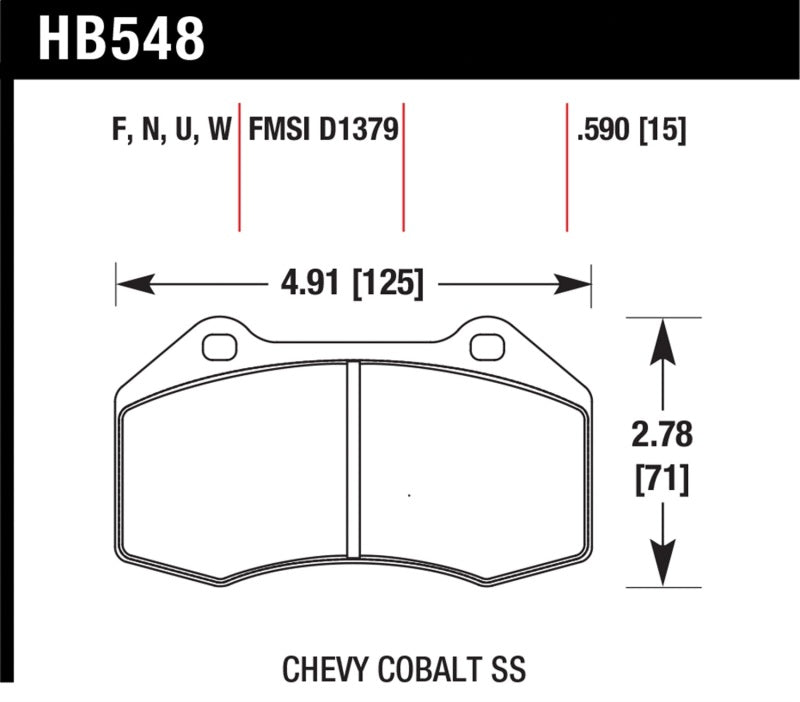 Hawk Performance K DTC-80 Brake Pad Sets (hawkHB548Q.590)