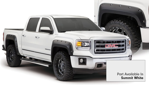 Bushwacker 15-15 GMC Sierra 1500 Pocket Style Flares 4pc - Summit White (40960-14)