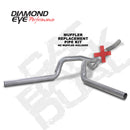 Diamond Eye KIT 4in CB MFLR REPLACMENT PIPE DUAL AL: 2006-2007.5 CHEVY/GMC 6.6L 2500/3500 (K4124A-RP)