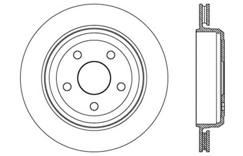 StopTech Slotted & Drilled Sport Brake Rotor 11-15 Jeep Grand Cherokee (Excludes SRT8) (127.58007L)