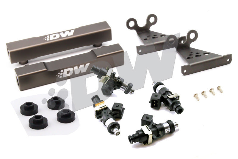 DeatschWerks 92-98 Subaru V1-4 WRX/STI Top Feed Conversion Fuel Rail Upgrade Kit w/ 1500cc Injectors (6-103-1500)