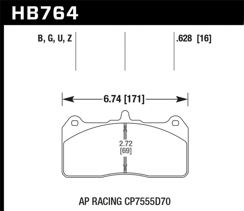 Hawk Performance K DTC-60 Brake Pad Sets (hawkHB764G.658)