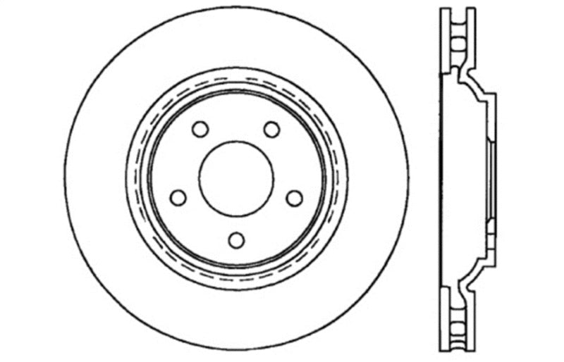 StopTech Drilled Sport Brake Rotor (128.62087R)