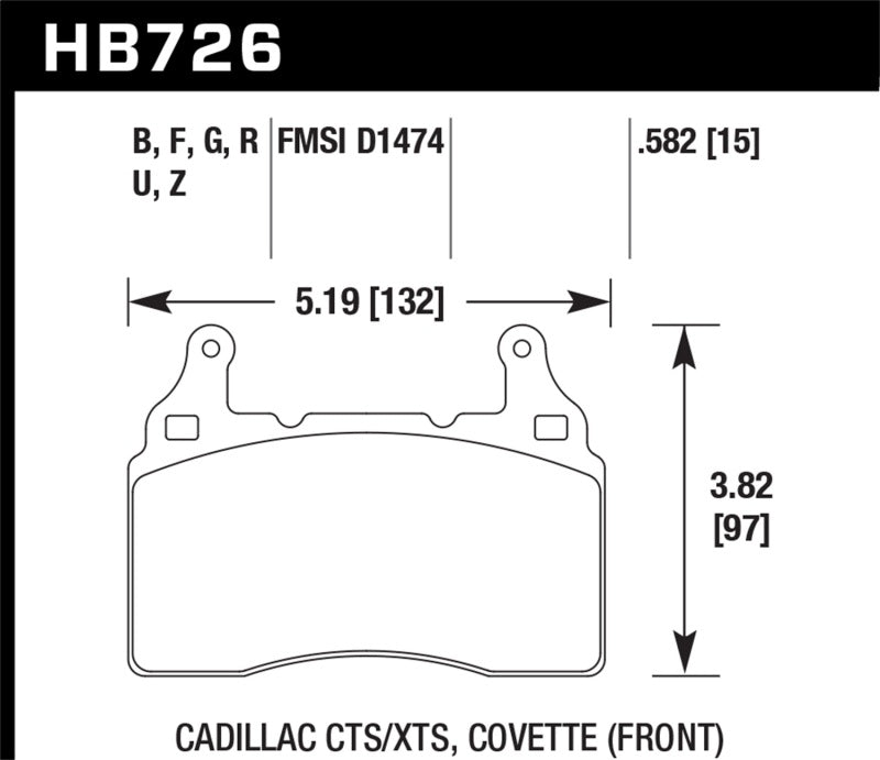 Hawk Performance K DTC-80 Brake Pad Sets (hawkHB726Q.582)