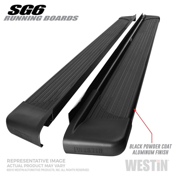 Westin SG6 Black Aluminum Running Boards 89.50 in (27-64745)