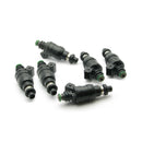 DeatschWerks 90-01 3000GT / 91-96 Dodge Stealth 1000cc Low Impedance Top Feed Injectors (42M-02-1000-6)