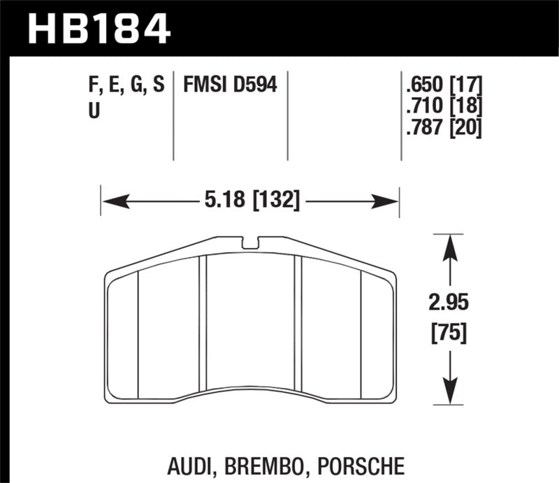 Hawk Performance K DTC-80 Brake Pad Sets (hawkHB184Q.650)