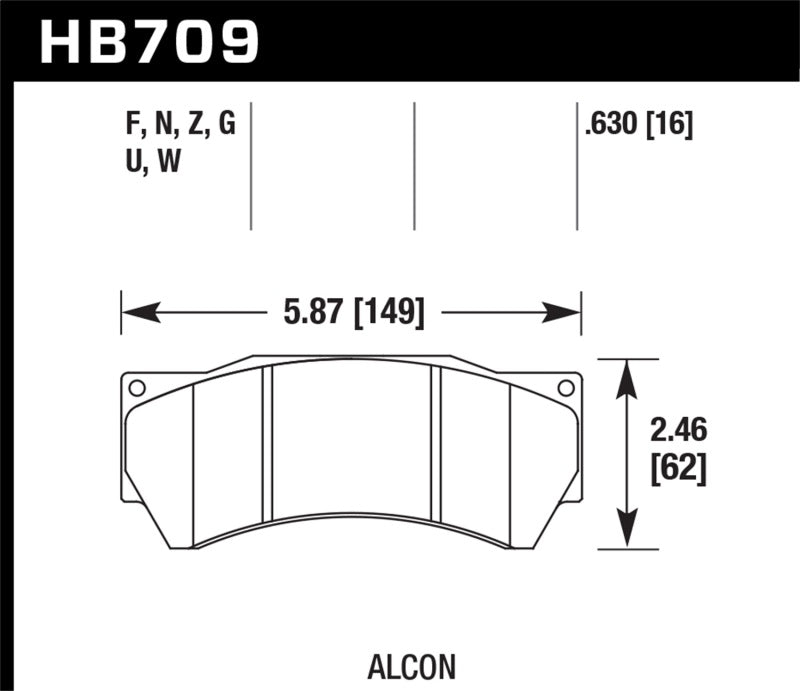 Hawk Performance K DTC-80 Brake Pad Sets (hawkHB709Q.630)
