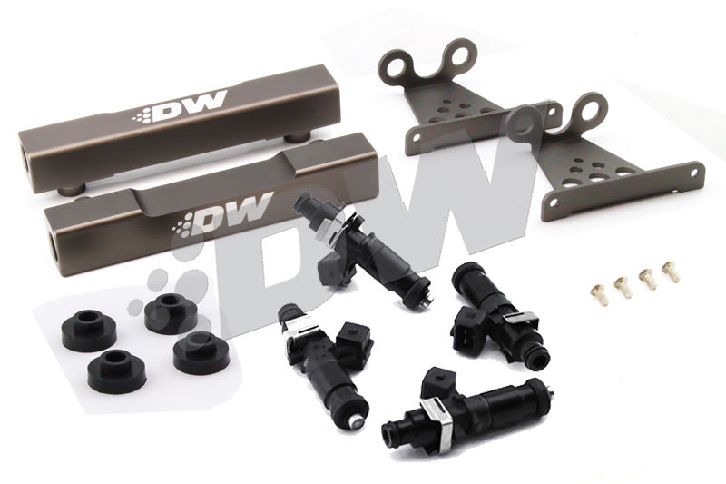 DeatschWerks 99-00 Subaru V5-6 WRX/STI Top Feed Conversion Fuel Rail Upgrade Kit w/ 1200cc Injectors (6-104-1200)