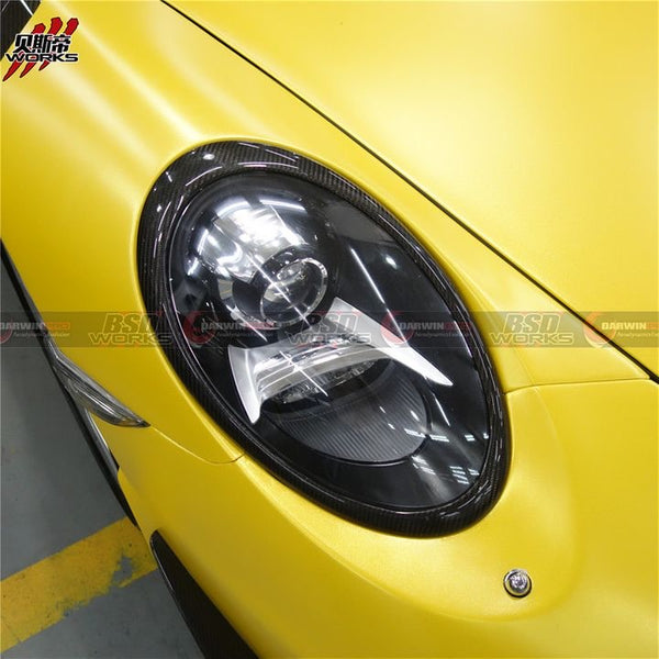 2013-16 Porsche Carrera 911 991.1 Carbon Fiber Headlight Eyebrows